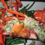 lobster at shore night
